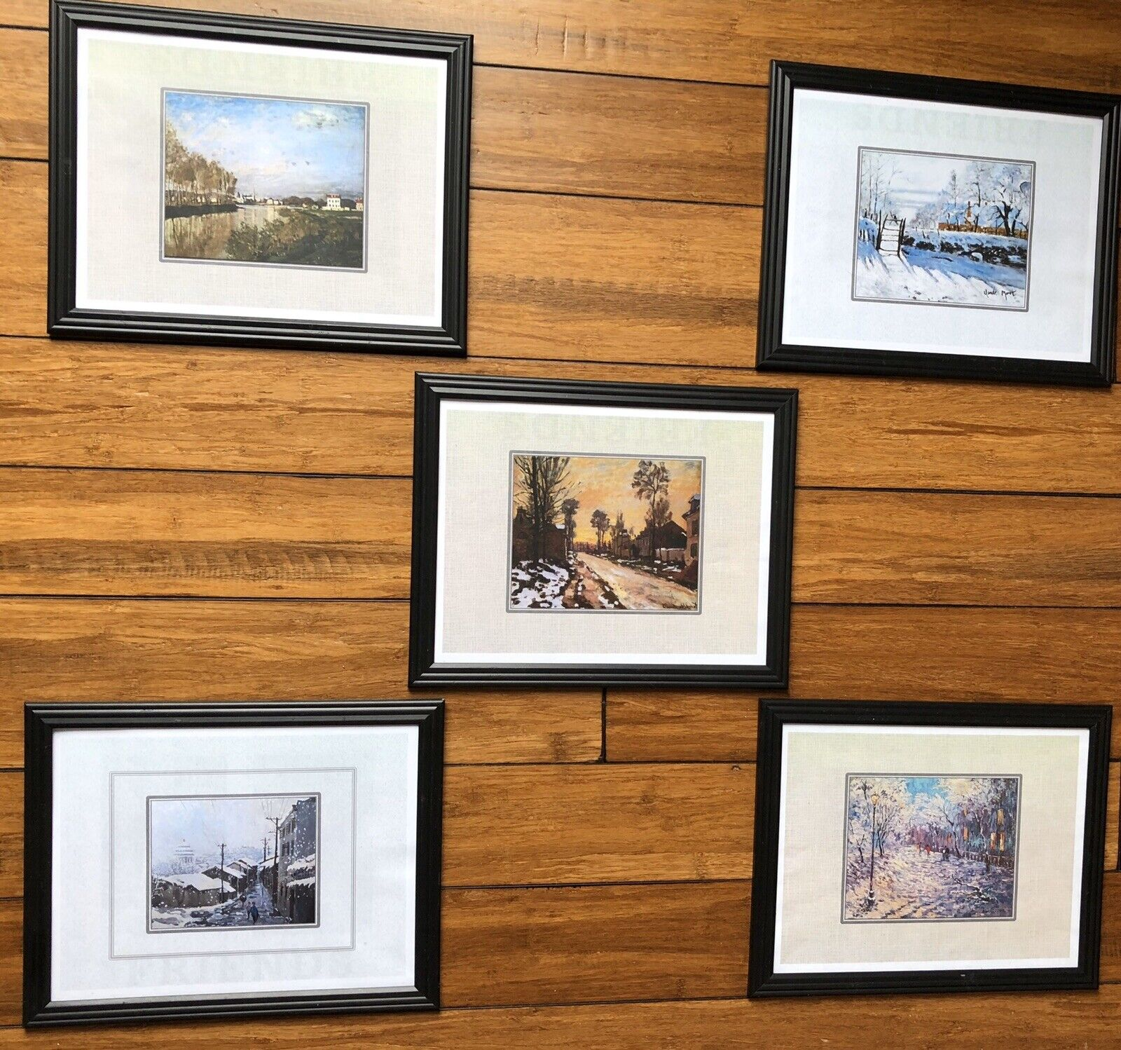 """5 Framed Wall Decorations, Artwork 10x12"""" - Each Set, Used For Home Sale Show 1"""