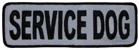 High Visibility - Service Dog (j01) Reflective Sew-on Patch (2x6) 23638