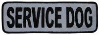 High Visibility - Service Dog (j01) Reflective Sew-on Patch (2x6) 23638