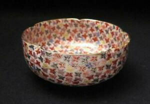 ANTIQUE-JAPANESE-SATSUMA-HANDPAINTED-THOUSAND-BUTTERFLIES-BOWL-1000-GILT-SIGNED