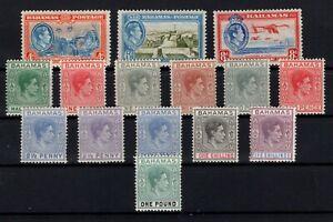 P126934-BRITISH-BAHAMAS-1938-1946-GEORGE-VI-MINT-LOT-CV-245