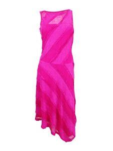 Sangria-Women-039-s-Lace-Asymmetrical-Midi-Dress