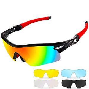 a3e3c7c15c Image is loading Polarized-Sports-Sunglasses-CrazyFire-UV-400 -Protection-Unbreakable-