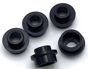 Lego 5 New Black Plates 1 x 6 Stud Pieces Parts