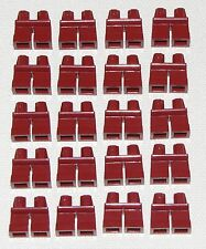 LEGO LOT OF 20 NEW SHORT DARK RED LEGS KIDS BOY GIRL MINIFIGURE PANTS PARTS