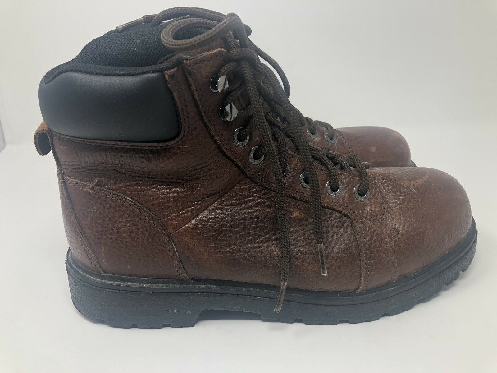Wolverine Steel Toe Ankle Work and Safety Boots Size 9M Brown W02174