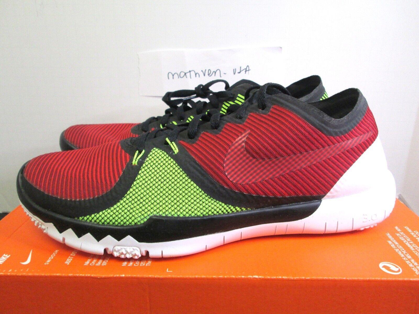 Nike Free Trainer 3.0 V4 men athletic shoes Red green black 749361 066 sz 11