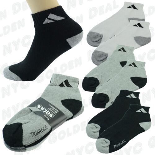 NEW Adi 3 Pairs Ankle//Quarter Crew Mens Socks Cotton low cut Size 9-13 Sport