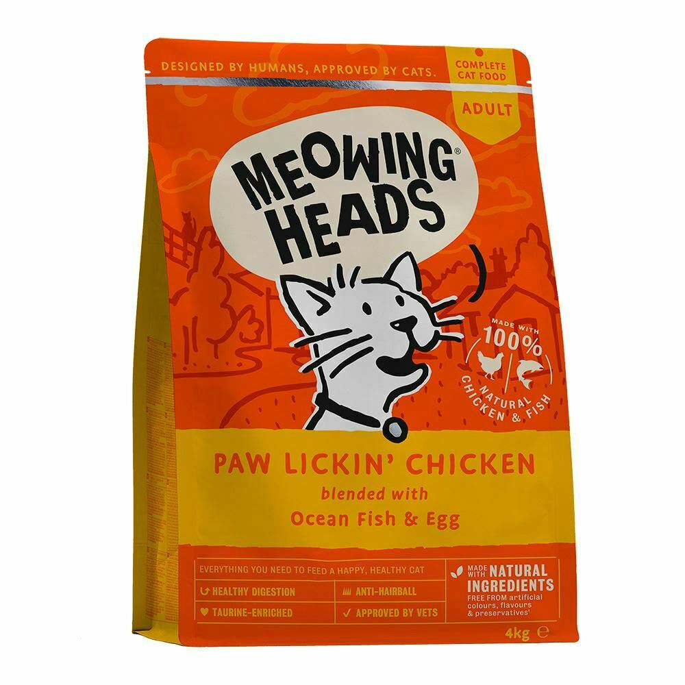 3 X Meowing Heads Cat Adult Hey Good Looking 1.5kg