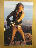 Jon Bon Jovi Rock N Roll Original 1990 Vintage Poster 174 A