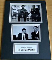 SIR GEORGE MARTIN HAND SIGNED AUTOGRAPH A4 PHOTO DISPLAY BEATLES GIFT & COA