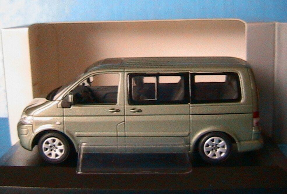 VW VOLKSWAGEN MULTIVAN T5 2003 LIGHT GREEN METAL MINICHAMPS 842902111 1 43 KOMBI
