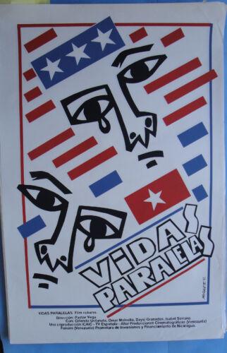 Vida Paralela ICAIC Cuban original Movie poster art Morante 1993 CUBA CUBAN RARE