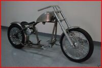 Fatboy Heritage Deluxe Rigid Frame Bobber Chopper Rolling Chassis Harley Roller