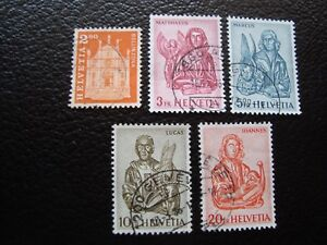 Switzerland-Stamp-Yvert-and-Tellier-N-660B-A-660F-Obl-A1-A