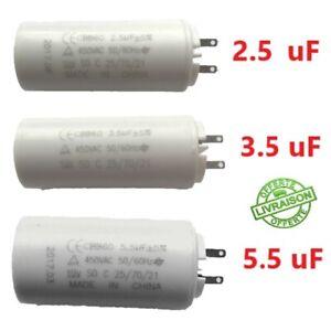 Condensateur 5 5 3 5 2 5 Uf µf Moteur Volet Roulant Electrique Store Somfy Simu Ebay