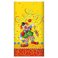 "15 Papier Tischdecken 120 cm x 180 cm ""Clown"" lackiert Dekor Party Papstar"