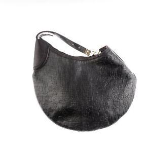 d1f5ee114 Gucci 'Glam Hobo' Black Calfskin Leather Horse-bit Embossed Shoulder ...