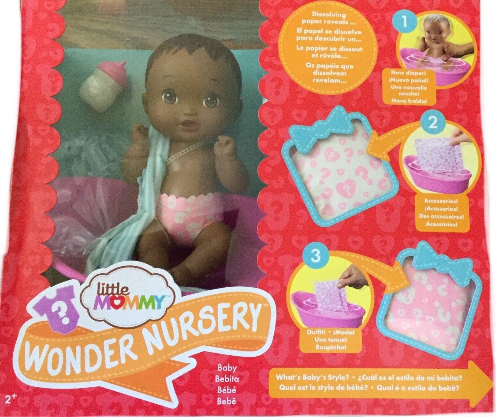 Nuovo Piccolo Mamma Wonder Scuola Materna Bambola Africana American,Set Gioco
