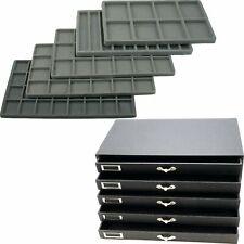 Large Jewelry Organizer Case 5 Drawer Tray Insert Storage Display Watch Ring