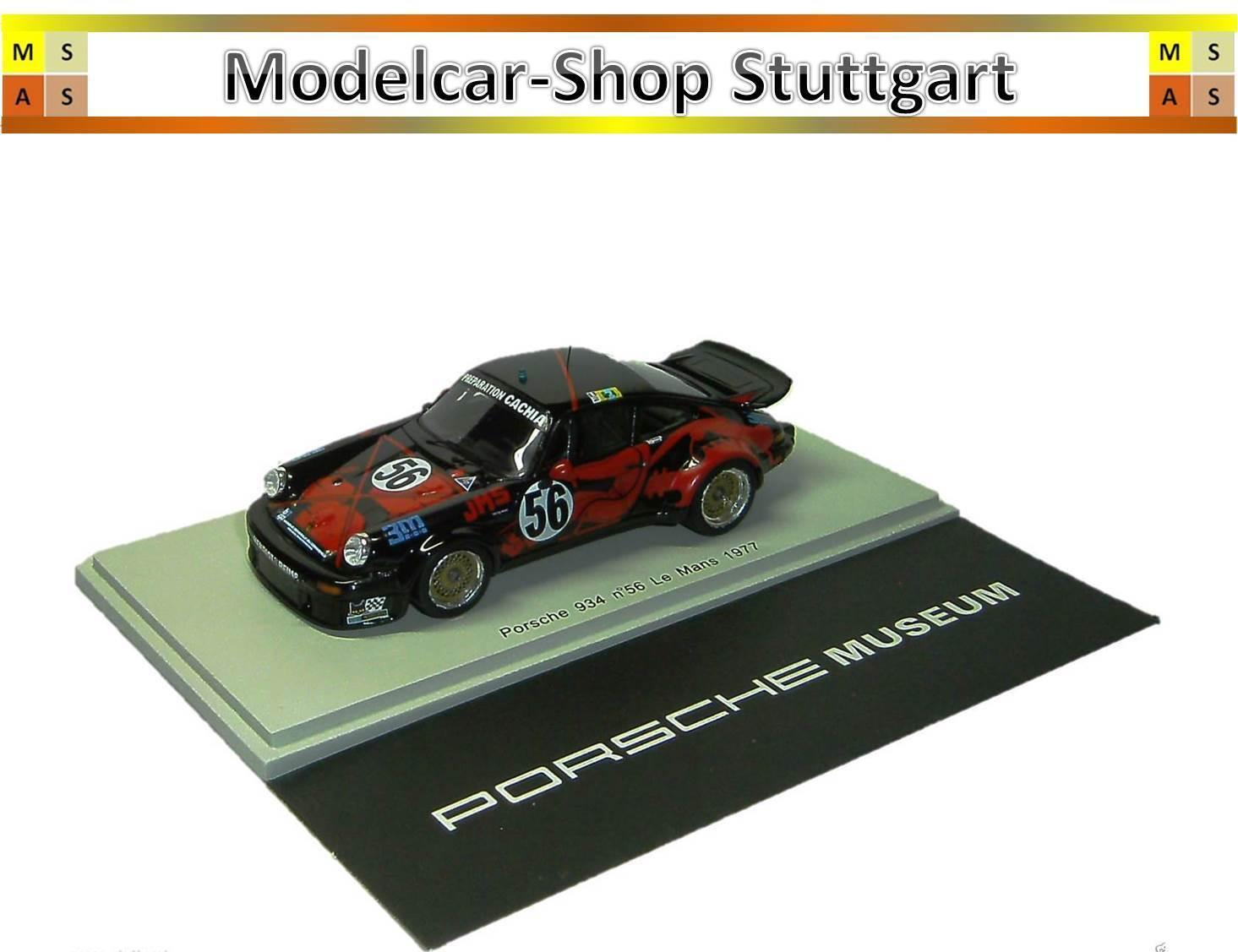 venta mundialmente famosa en línea Porsche 934  56 56 56 Le Mans 1977 Grandt Bousquet Dagoreau Spark 1 43 Map02077716  la red entera más baja