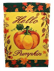 Hello Pumpkin Fall Garden Flag 12 X 18 Double Sided 601202536436 Ebay