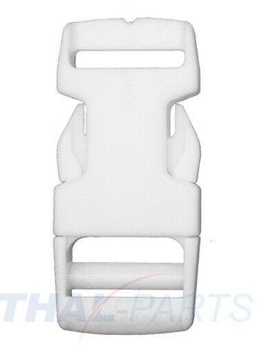 10er Pack steckschnalle//steckschließer 20mm blanco acetal encajable