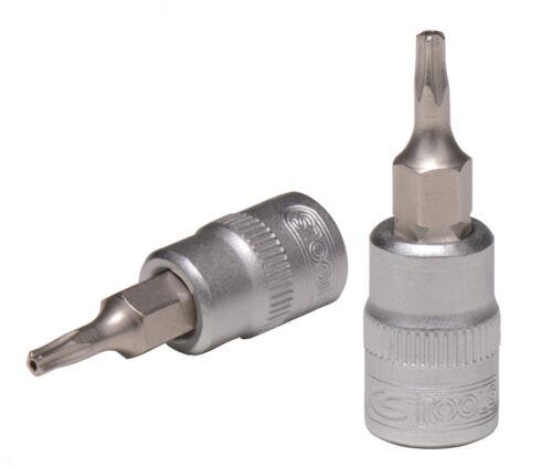 """KS Tools 1//4/"""" Bit-Stecknuss TS27 aus 911.4500 Fünfstern mit Stirnlochbohrung"""