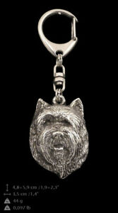 100% De Qualité Cairn Terrier, Porte-clés Couvert D'argent, De Qualité Supérieure Art Dog Fr CaractèRe Aromatique Et GoûT AgréAble