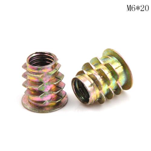 10Pcs//set Zinc Alloy Hex Drive Head Screw Insert Nut Threaded For Wood M4 ~  RC