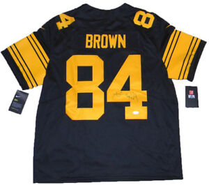 e2958bc08bf Image is loading ANTONIO-BROWN-SIGNED-PITTSBURGH-STEELERS-84-NIKE-LIMITED-