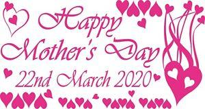 VINYL RETAIL SHOP WINDOW DISPLAY Sticker M1 Mothersday Flowers
