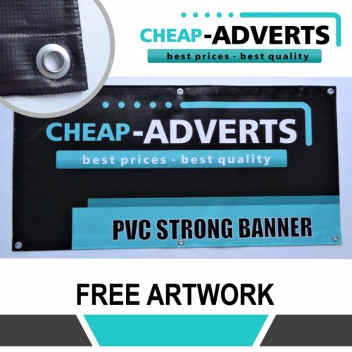 CHEAP PVC BANNER FULL COLOUR HIGH QUALITY ADVERTISING BANNER 6ft x 5ft