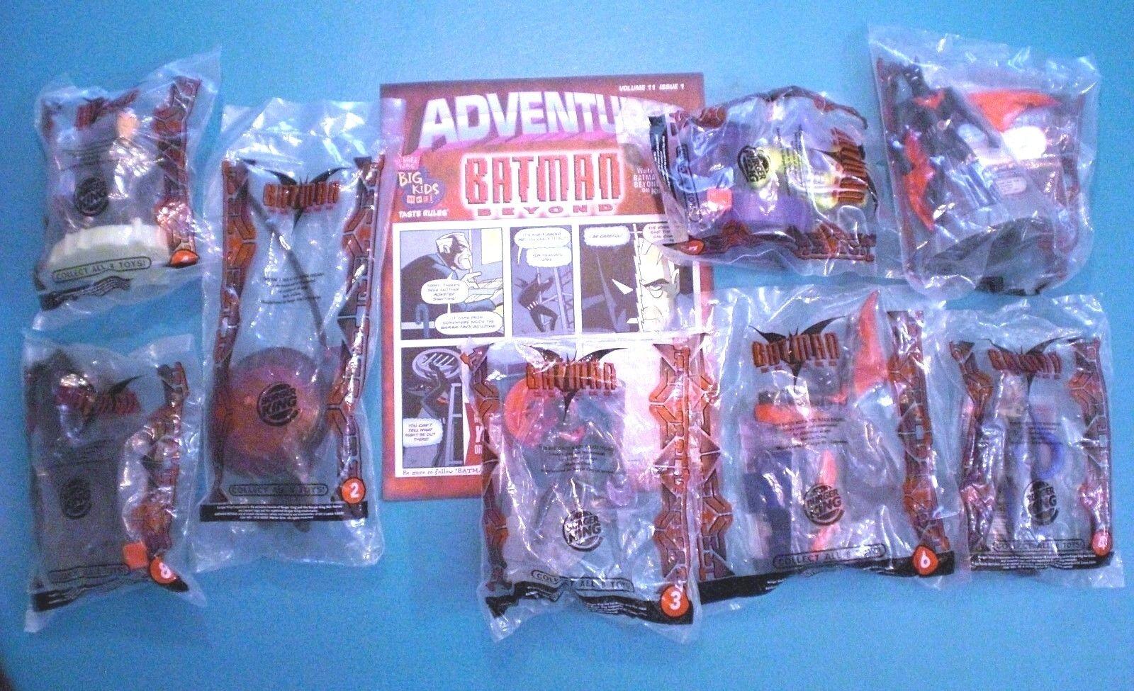 Burger King 2000 - Batman Beyond - Complete Set of 8 MIP plus Brochure