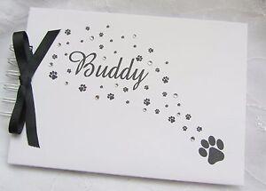 PERSONALISED-PET-DOG-CAT-PHOTO-ALBUM-MEMORY-SCRAPBOOK