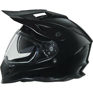 AXO EMX Dual Sport Helmet M Shiny Black Adventure Gloss Motorbike GHOSTBIKES