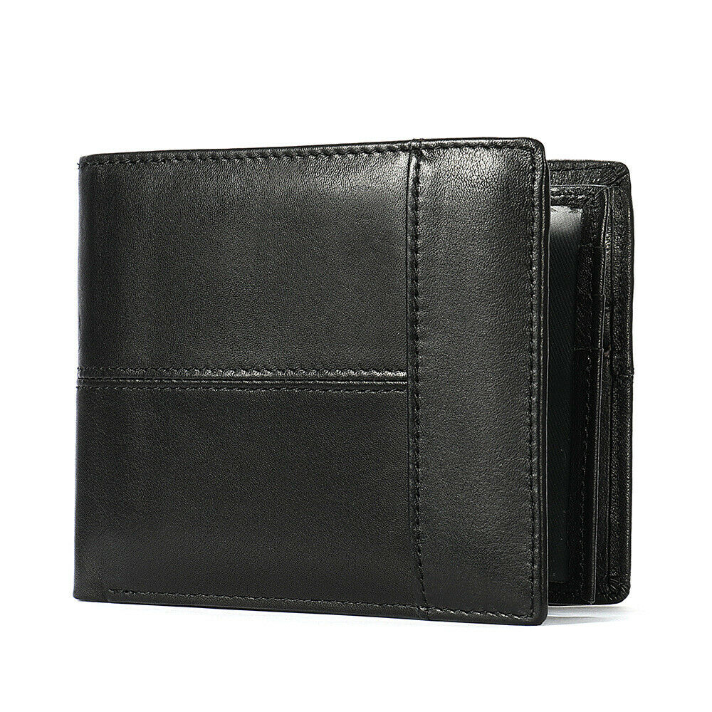 Mens Vintage Leather Wallet RFID SAFE Contactless Card Blocking ID Protection UK