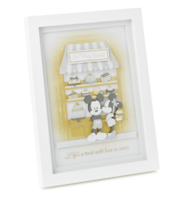 Hallmark-Disney-Mickey-and-Minnie-Life-039-s-a-Treat-Papercraft-Framed-Art-New