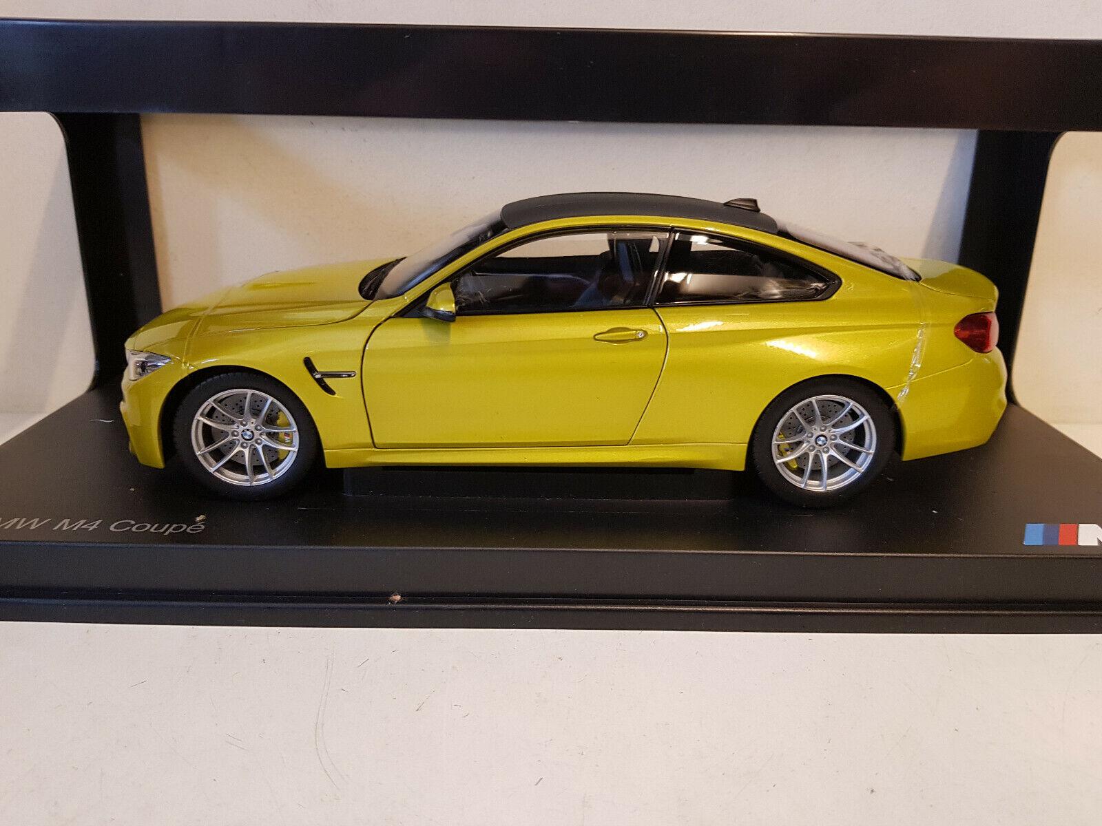 marca en liquidación de venta Paragon-BMW M4 Coupe-Austin Coupe-Austin Coupe-Austin Amarillo-escala 1 18 Modelo de Coche-PA-97103