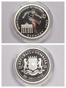 Details Zu Munze 100 Shillings Fussball Wm 2006 Germany Somalia 2001 Pp