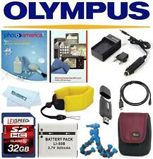 Deluxe Accessory Kit For Olympus Tough TG-870 TG-860 iHS TG850 TG 850-820-830
