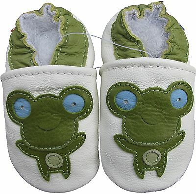carozoo frog black 4-5y new soft sole leather kid shoes