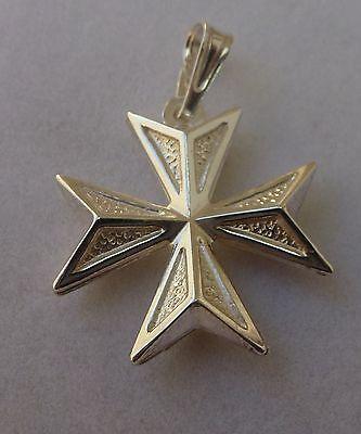 St john stuff collection on ebay sterling silver maltese cross pendant order of st john knights of malta aloadofball Images