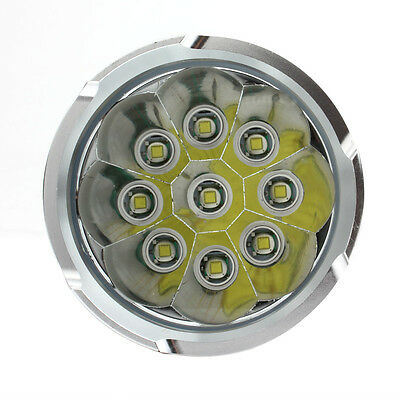 Hot 22000LM SKYRAY 9 x CREE XM-L T6 LED 3-Mode Flashlight 4 x 18650 Lamp Torch