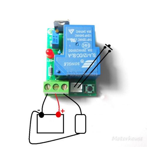 12V Batería de coche bajo voltaje de corte Off Interruptor Controlador Placa de protección excesiva