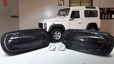Land Rover Defender TD5 TDCI LED Clear Wing Repeater Indicators XGB100310L x2