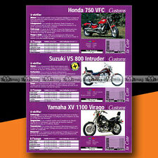 ★ HONDA VFC 750, SUZUKI INTRUDER 800 & YAMAHA 1100 VIRAGO ★ Article Moto #a1566
