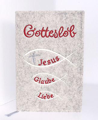 Bücherzubehör Gotteslob Hülle Filz Neutral Kreuz Fische Kommunion Firmung Religion Kirche Filz Seien Sie In Geldangelegenheiten Schlau Buchhülle