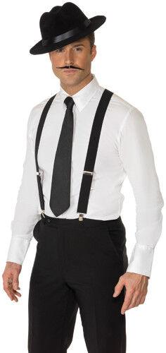 Mens Black Suspenders Halloween Costume Accessory