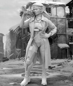1-35-Resin-Future-Female-Police-Girl-unpainted-unassembled-BL770